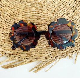 Flower zonnenbril brown, feestbeest