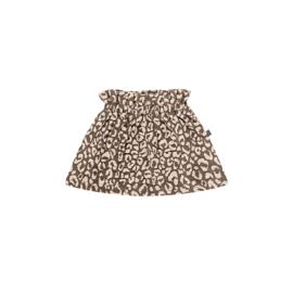 Paperbag skirt rosewood leopard , House of Jamie