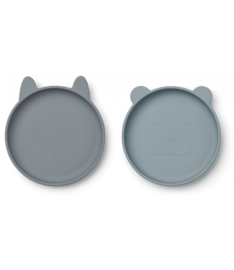 Olivia plate blue mix 2 pack , Liewood