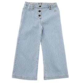 Denim striped flared pants, Tocoto Vintage