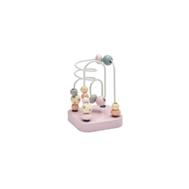 Houten kralen frame mini roze, Kidsconcept