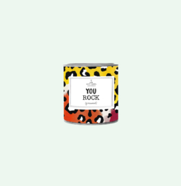 You Rock, Candle Tin, Giftlabel