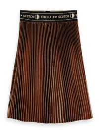 Gold pleated skirt , scotch R' belle