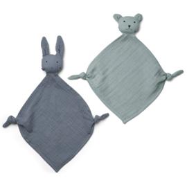 Yoko cuddle cloth  Blue mix mini 2 pack, Liewood