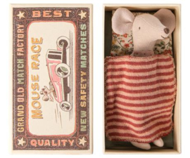 Big sister Mouse in Matchbox, Maileg