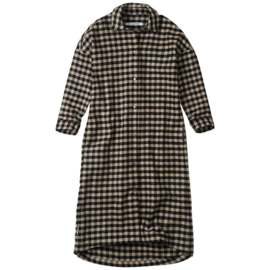 Oversized flanel checked dress, Mingo