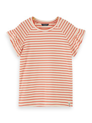T-shirt striped with smoked sleeves , Scotch R'Belle
