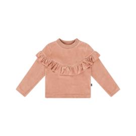 Sweater volant Terra Blush Velvet, House of Jamie
