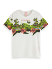 Tshirt ss  with tropical print, Scotch R'belle