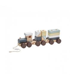 Wooden block train, kidsconcept