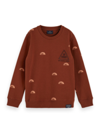 Sweater crewneck AOP, Scotch Shrunk