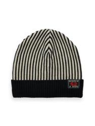 Yarn dyed striped Beanie, Scotch Shrunk