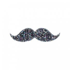 Glitte moustache clip , Mimi & Lula
