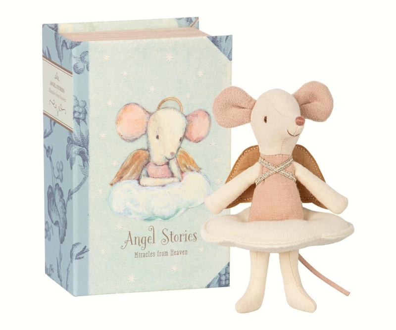 Angel mouse, big sister in book, Maileg