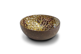 Gouden eierschaal kokosnootkom