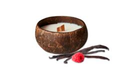 Kokosnootkaars framboos-vanille