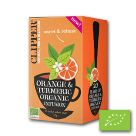 Sinaasappel en kurkuma Infusie