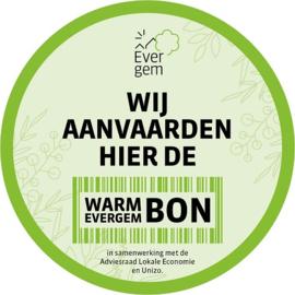 Betaal met de E-bon/Warm Evergem Bon
