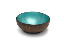 Turquoise metaalkleurige kokosnootkom