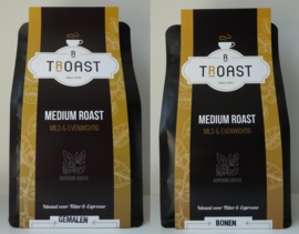 Medium roast koffie