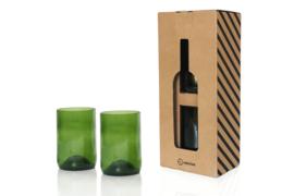 Drinkglazen 2-delig, groen