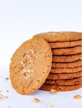 Kraakverse koeken met pinda's