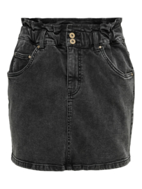 JDY - Signe life paperwaist skirt black denim