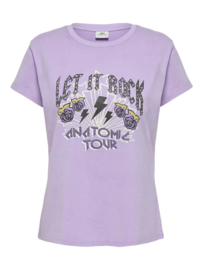 JDY - Farock print top pastel lilac let it rock