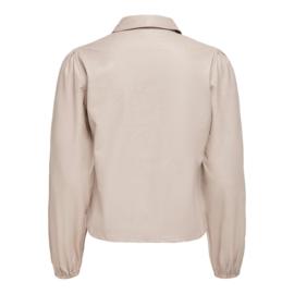 JDY - London faux leather shirt chateau gray