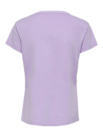 JDY - Farock print top pastel lilac let it rock