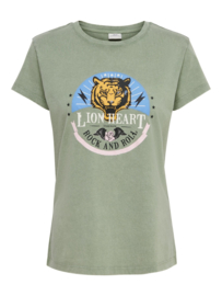JDY - Farock print top sea spray lion heart