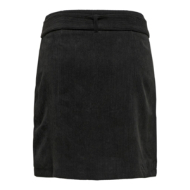 JDY - Hong button corduroy skirt black