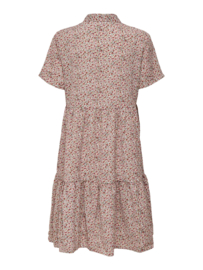 JDY - Piper shirt dress birch dusty cedar & ash rose ditsy