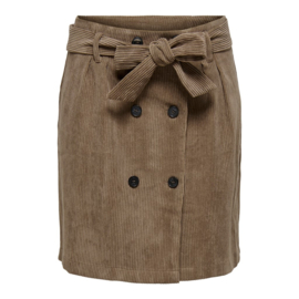 JDY - Hong button corduroy skirt falcon