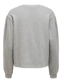 JDY - Basa stud sweat light grey