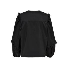 JDY - Enya placket puff top black