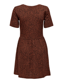 JDY - Kirby  dress rustic brown mini leo