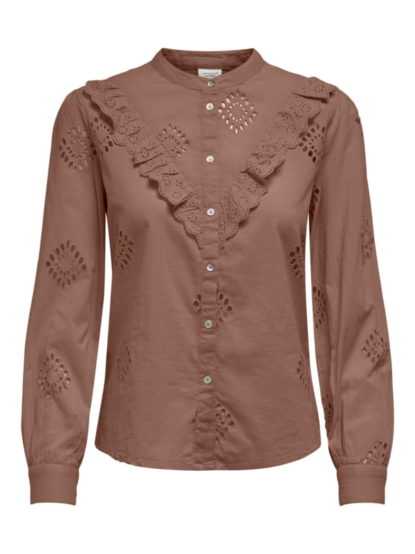JDY - Roberta lace shirt brownie