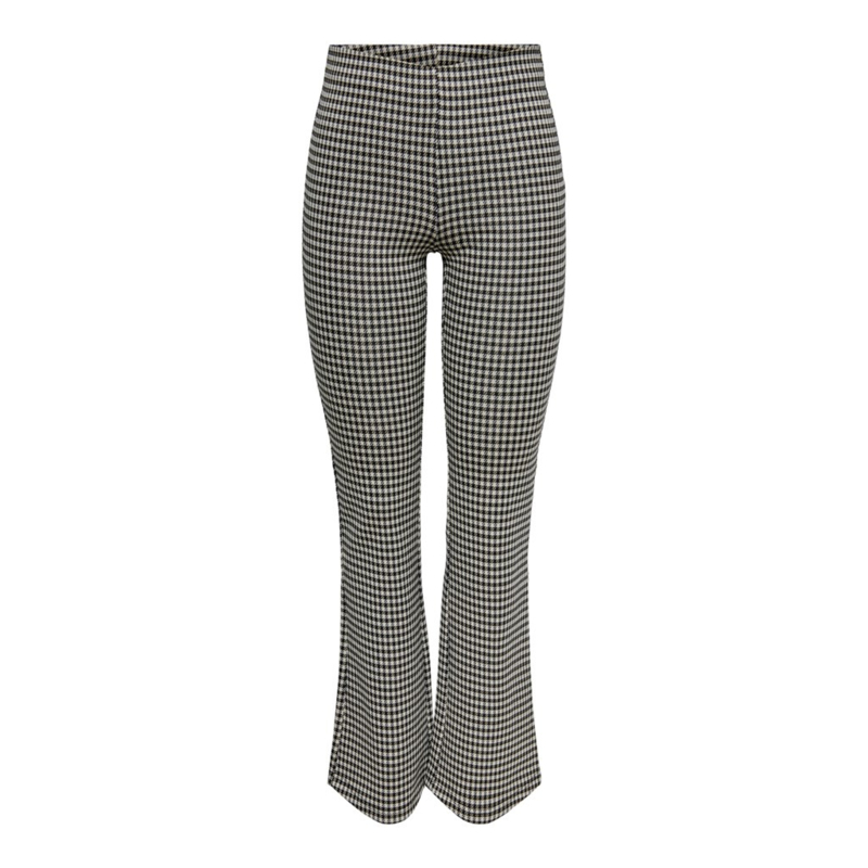 JDY - Hugh flare check pant houndstooth