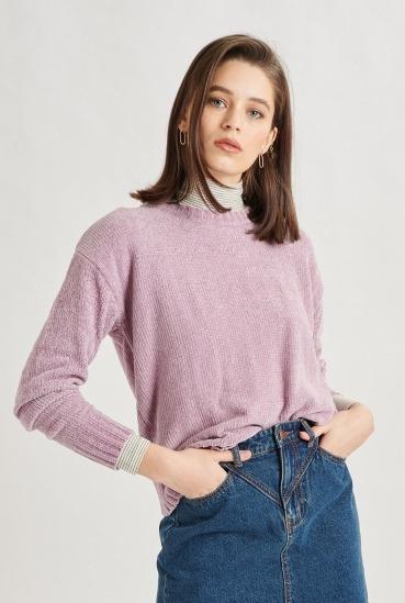 24colours - Pullover lila velvet