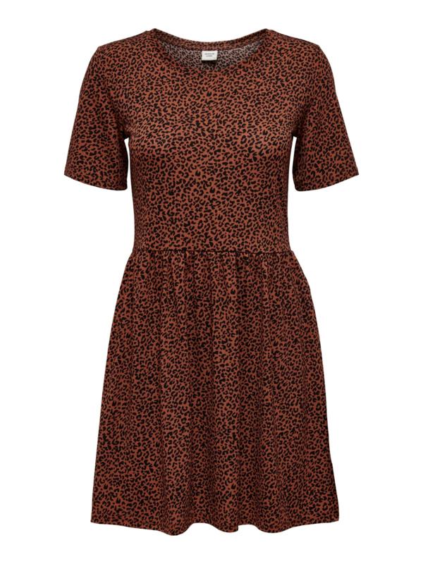 JDY - Kirby  dress rustic brown mini leo