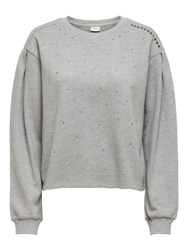 JDY - Basa stud sweat light grey