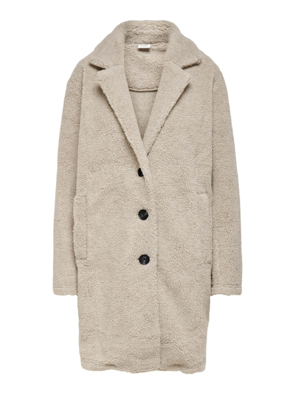 JDY - Frida teddy coat pale khaki melange