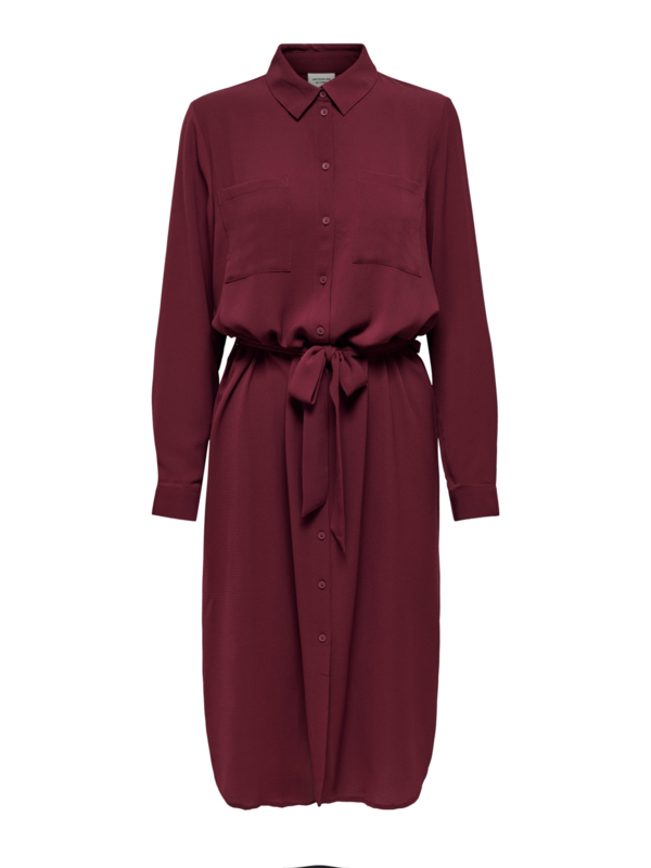 JDY - Pinto midi shirt dress zinfandel