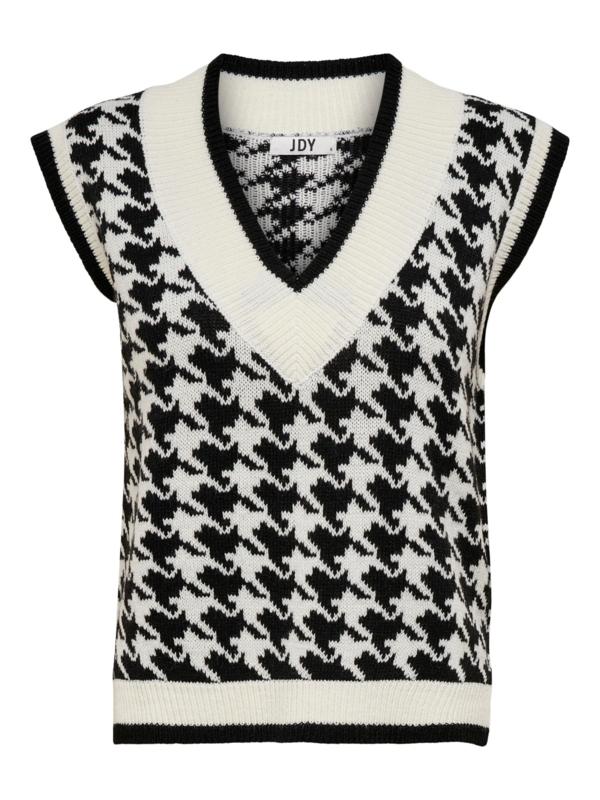 JDY - Berte v-neck jacquard vest