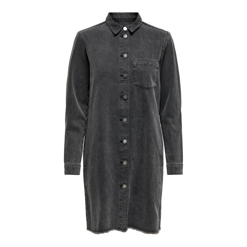 JDY - Sansa dress raw grey denim
