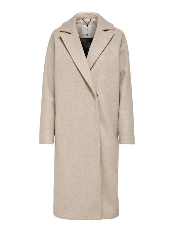 JDY - Emma long coat chateau gray melange