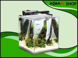 Aquael nano cube set duo - 49 liter zwart aquarium