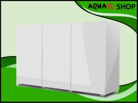 Glossy 150cm aquarium meubel wit