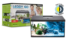 Aquael Leddy 60  DAY&NIGHT - zwart aquarium